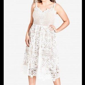 City Chic Ivory Fancy Free Dress